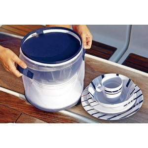 CANNES 4 Person Tableware Set - 13 Pcs  sc 1 st  Rynkel Marine : melamine dinnerware for boats - Pezcame.Com