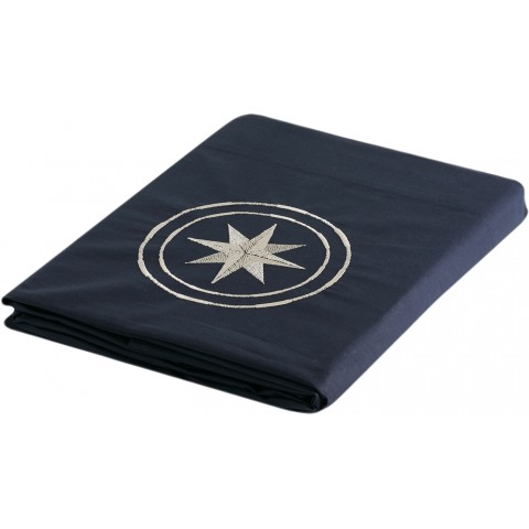 FREE STYLE Single Navy Blue Top Sheet and Pillow Case