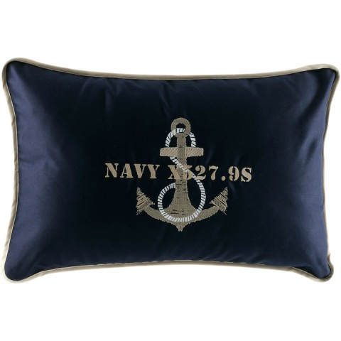 ANCHOR Navy Cushion Covers - Set of 2