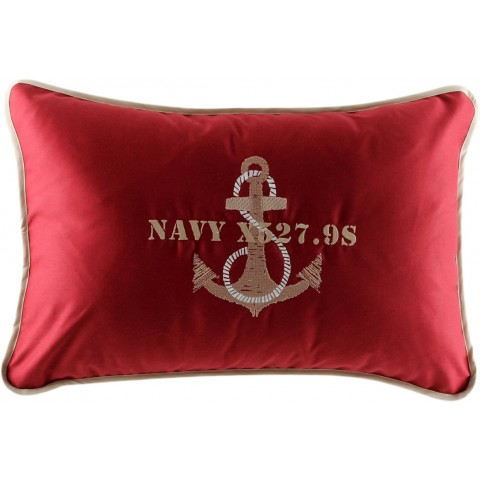 ANCHOR Dark Red Cushion Covers - Set of 2