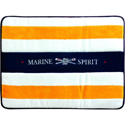 SPIRIT Yellow Terry Bath Mat