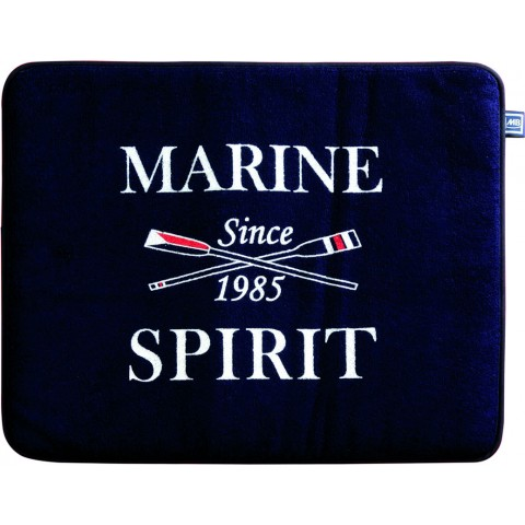 SPIRIT Navy Non-Slip Terry Bath Mat