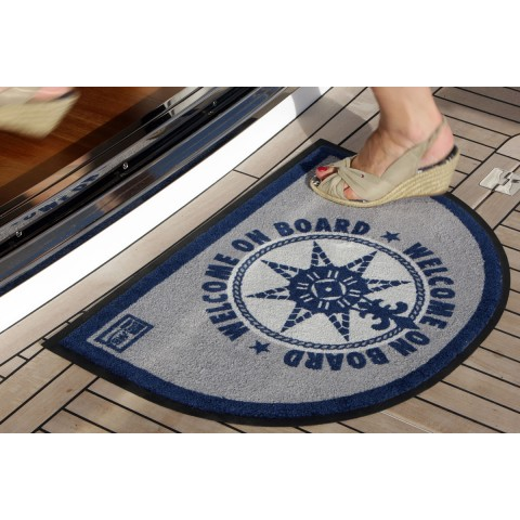 WELCOME ON BOARD Blue Half Moon Non-slip Mat - 2 Pcs