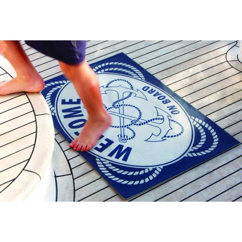 WELCOME ON BOARD Anchors Non-slip Mat - 2 Pcs