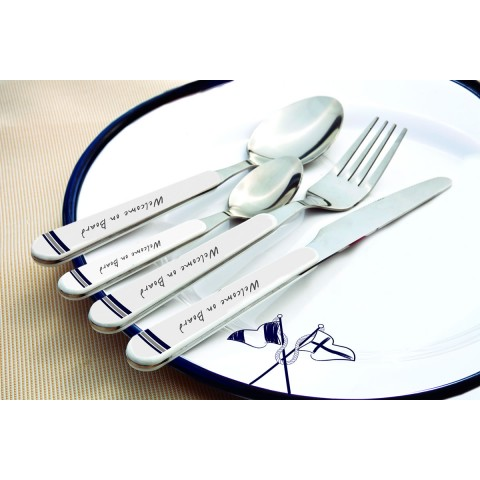 WELCOME ON BOARD 6 Person Cutlery Set - 24 Pcs