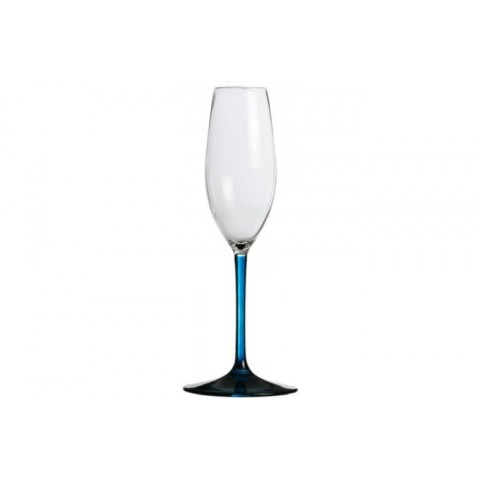 Party Champagne Flute with Blue Base - Set of 6