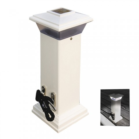Dock Edge Cleatlite Solar Dock Light W Ss Mooring Cleat 12