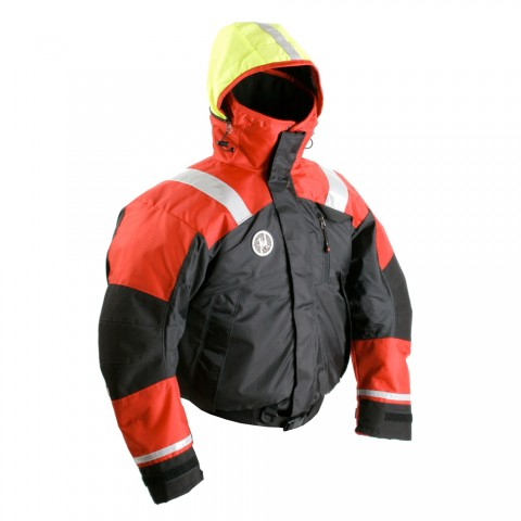 First Watch Ab 1100 Flotation Bomber Jacket Lg Red Black