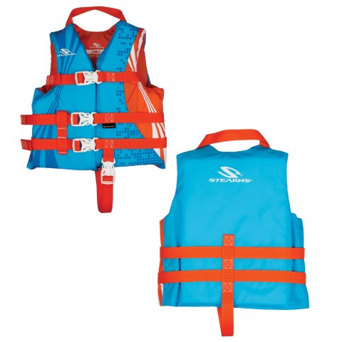 Stearns Child Antimicrobial Life Jacket 30 50 Lbs Wave