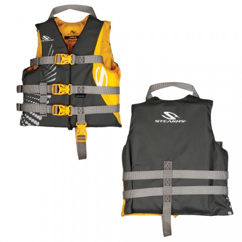 Stearns Child Antimicrobial Life Jacket 30 50 Lbs Gold