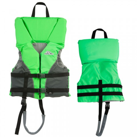 Stearns Heads Up Youth Life Jacket 50 90Lbs Green