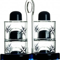 NorthWind Cruet and Salt Pepper with Non Slip Holder