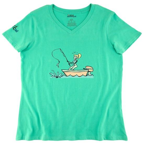 Womens Fishing Shoe Ultra Soft Tee Shirt