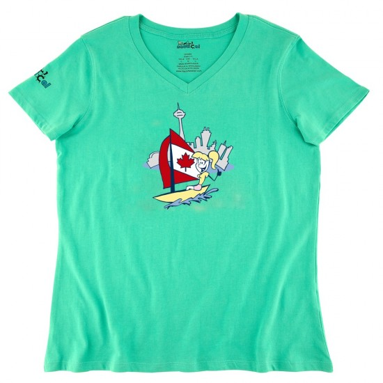 Womens Sailing In Toronto Ultra Soft Tee Shirt