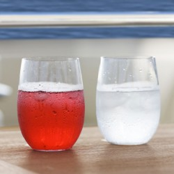 CLEAR Non-Slip Beverage Glass - Set of 6 - Tritan