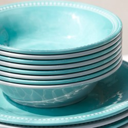"Harmony Acqua Dessert Plate Round 7"" - Melamine"