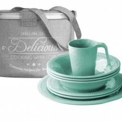 Harmony Acqua Tableware Set - 16 Pcs - Melamine