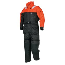 Mustang Deluxe Anti-Exposure Coverall & Worksuit - LG - Orange/Black