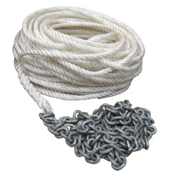"""Powerwinch 200\\\' of 5/8"""" Rope 15\\\' of 5/16 HT Chain Rode"""