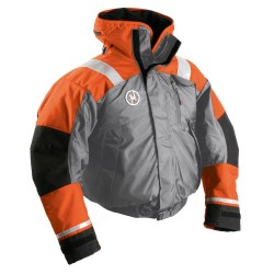 First Watch AB-1100 Flotation Bomber Jacket - Orange/Grey - X-Large