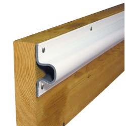 "Dock Edge ""C"" Guard PVC Dock Profile - (4) 6\\\' Sections - White"