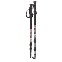 YUKON Carbon Lite Trekking & Snowshoe Pole - Red