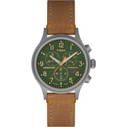Timex Expedition Scout Chrono Watch - Tan/Green