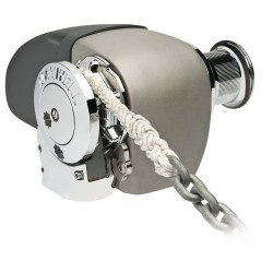 "Maxwell HRC 10-8 Rope Chain Horizontal Windlass 5/16"" Chain, 5/8"" Rope 12V, with Capstan"