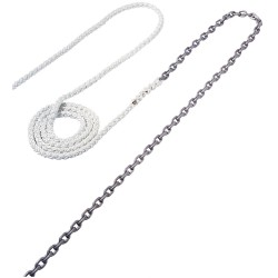 "Maxwell Anchor Rode - 20\\'-3/8"" Chain to 200\\\'-5/8"" Nylon Brait"