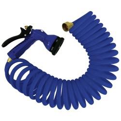 Whitecap 25' Blue Coiled Hose w/Adjustable Nozzle