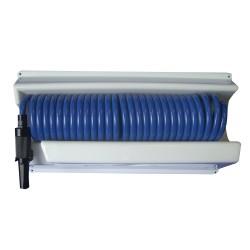 Whitecap 25' Blue Coiled Hose w/Mounting Case