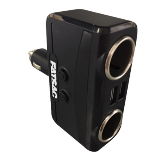 FATSAC Dual Socket 12/24V w/Dual USB Ports