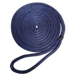 """Robline Premium Nylon Double Braid Dock Line - 1/2"""" x 15' - Navy Blue"""