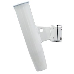 "C.E. Smith Aluminum Vertical Clamp-On Rod Holder 1-5/16"" OD White Powdercoat w/Sleeve"