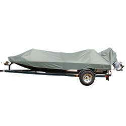 Carver Performance Poly-Guard Extra Wide Series Styled-to-Fit Boat Cover f/17.5' Jon Style Bass Boats - Grey