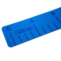 "SeaDek 4"" x 36"" 3mm Fish Ruler w/Laser SD Logo - Bimini Blue"