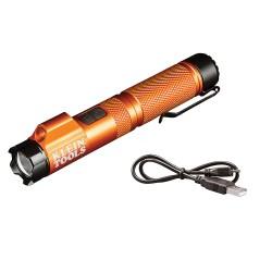 Klein Tools Rechargeable Focus Flashlight w/Laser - 350 Lumens